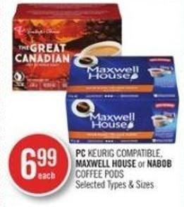 PC Keurig Compatible - Maxwell House or Nabob Coffee PODS