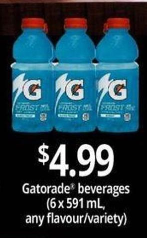 Gatorade Beverages - 6 X 591 Ml