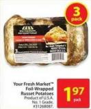 Your Fresh Market Foil-wrapped Russet Potatoes