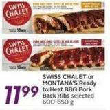 Swiss Chalet or Montana's Ready To Heat Bbq Pork Back Ribs
