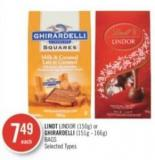 Lindt Lindor (150g) or Ghirardelli (151g - 166g) Bags