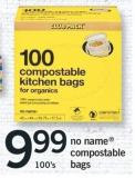 No Name Compostable Bags - 100's