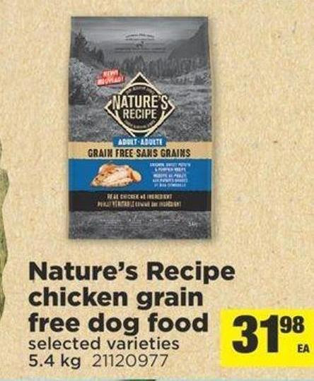 Nature's Recipe Chicken Grain Free Dog Food - 5.4 Kg