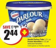Nestlé Parlour Tubs 1.5 L or Frozen Novelties 6-12 Pk Selected Varieties