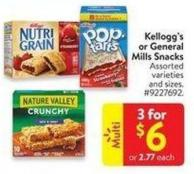 Kellogg's or General Mills Snacks
