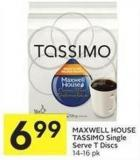 Maxwell House Tassimo Single Serve T Discs 14-16 Pk