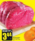 Beef Sirloin Tip Roast Cut From Canada Aa Beef or Higher 7.58/kg