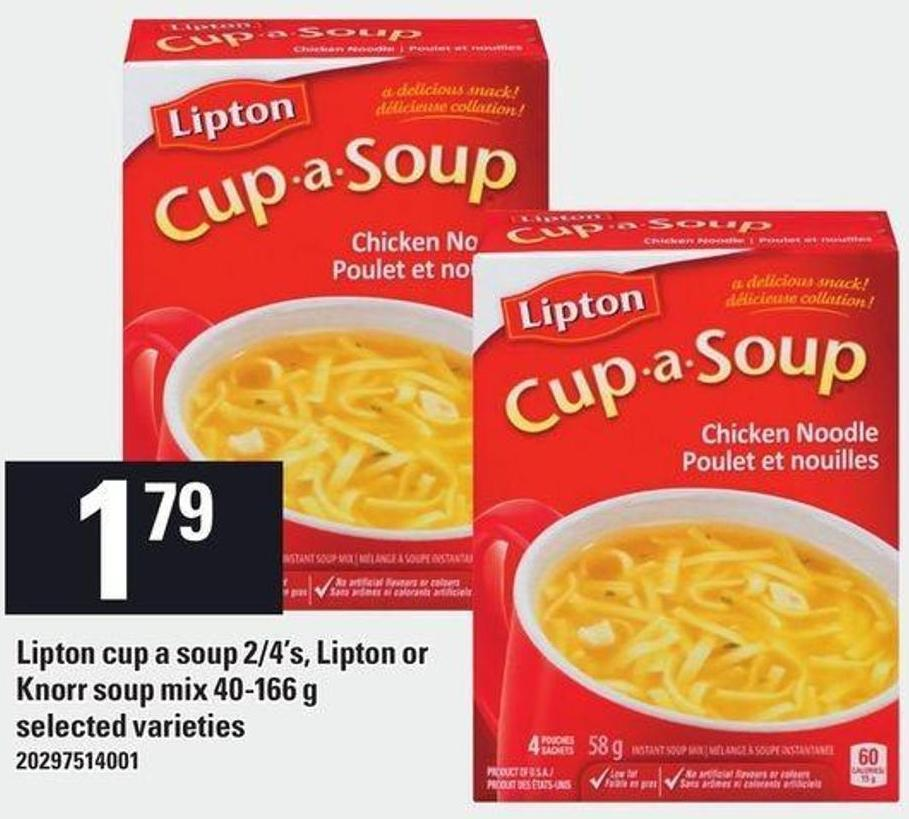 Lipton Cup A Soup 2/4's - Lipton Or Knorr Soup Mix 40-166 G