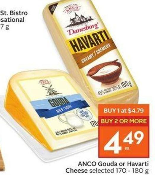 Anco Gouda or Havarti Cheese