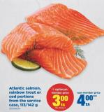 Atlantic Salmon - Rainbow Trout Or Cod Portions From The Service Case - 113/142 g