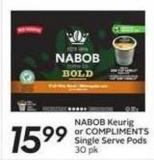 Nabob Keurig or Compliments Single Serve Pods