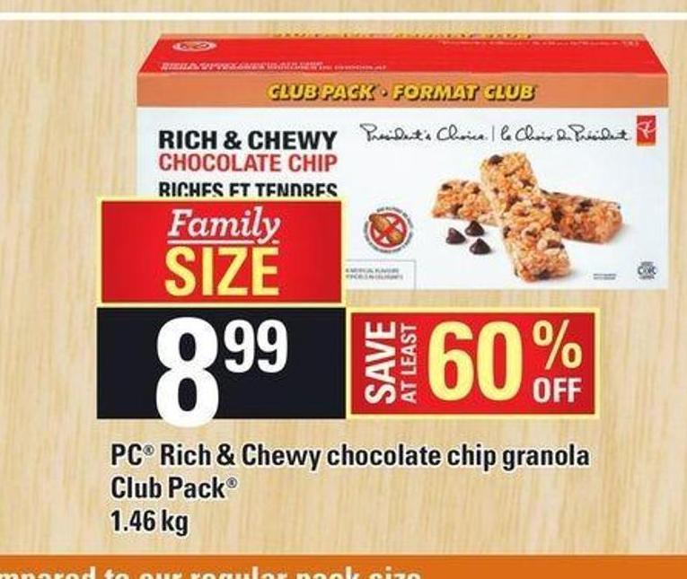 PC Rich & Chewy Chocolate Chip Granola