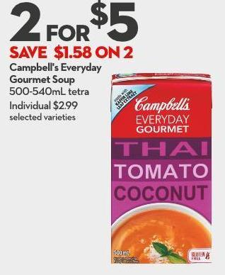 Campbell's Everyday Gourmet Soup 500-540ml Tetra