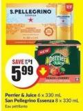 Perrier & Juice 6 X 330 mL San Pellegrino Essenza 8 X 330 mL