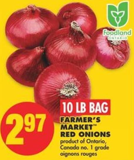 Farmer's Market Red Onions - 10 Lb Bag