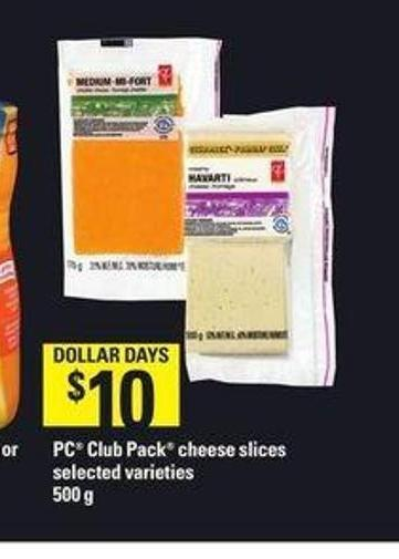 PC Club Pack Cheese Slices - 500 g