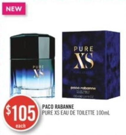 Paco Rabanne Pure Xs Toilette 100ml