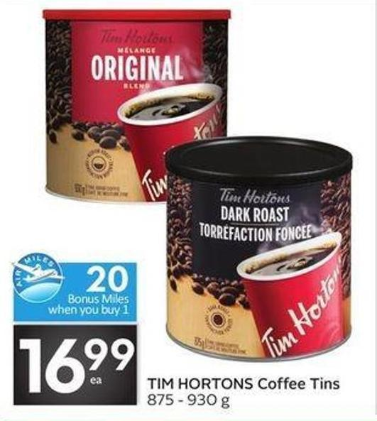 Tim Hortons Coffee Tins