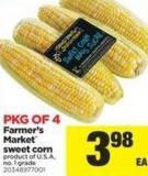 Farmer's Market Sweet Corn - Pkg of 4