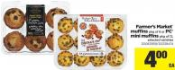 Farmer's Market Muffins - Pkg Of 6 Or PC Mini Muffins - Pkg Of 12