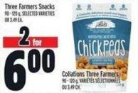 Three Farmers Snacks 90 - 120 g
