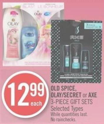 Old Spice - Olay/secret or Axe 3-piece Gift Sets