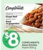 Compliments Asian Entrées Frozen