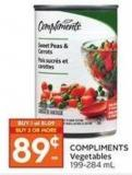 Compliments Vegetables 199-284 mL