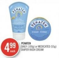 Penaten Daily (100g) or Medicated (55g) Diaper Rash Cream