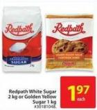 Redpath White Sugar 2kg or Golden Yellow