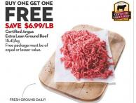 Certified Angus Extra Lean Ground Beef 15.41/kg