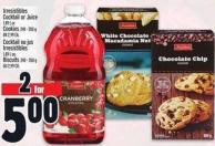 Irresistibles Cocktail Or Juice 1.89 L Or Cookies 240 - 350 G Or 2.99 Ea.