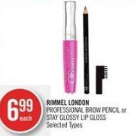 Rimmel London Professional Brow Pencil or Stay Glossy Lip Gloss