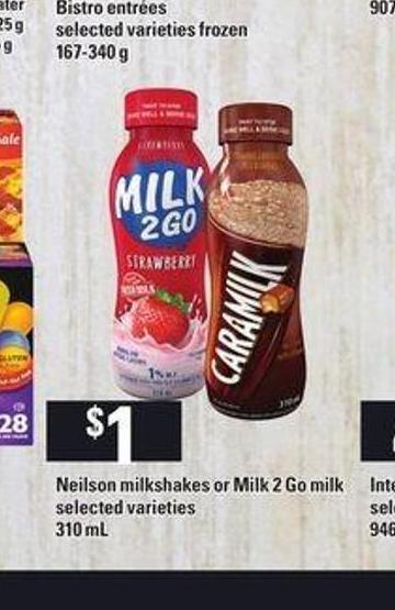 Neilson Milkshakes Or Milk 2 Go Milk - 310 mL