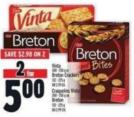 Vinta 200 - 250 G Or Breton Crackers 132 - 225 G