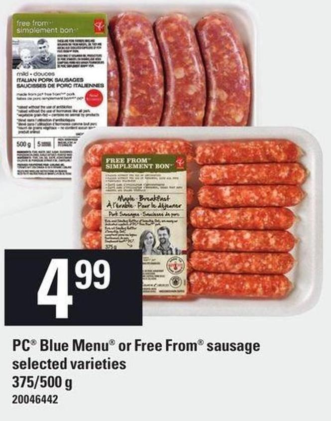 PC Blue Menu Or Free From Sausage - 375/500 g