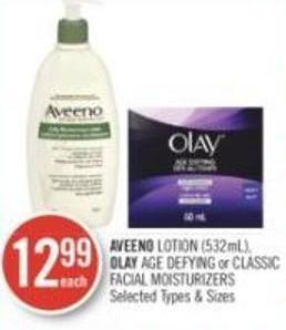 Aveeno Lotion (532ml) - Olay Age Defying or Classic