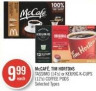 Mccafé Tassimo (14's) or Keurig K-cups (12's) Coffee PODS