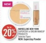 Maybelline New York Superstay or Dream Makeup Products