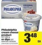 Philadelphia Cream Cheese Product - 227-280 G Or Dips 227