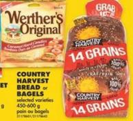 Country Harvest Bread or Bagels - 450-600 g