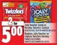 Jolly Rancher Candy Or Hershey Twizzlers Licorice
