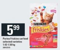 Purina Friskies Cat Food - 1.42-1.50 Kg
