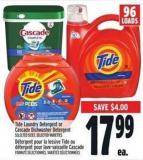 Tide Laundry Detergent Or Cascade Dishwasher Detergent