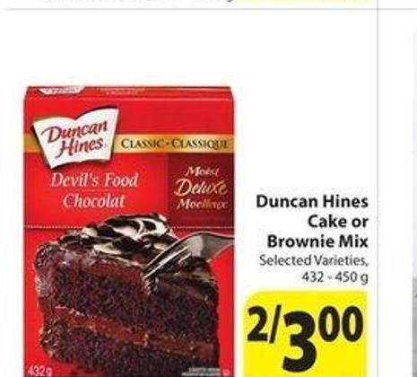 Duncan Hines Cake Or Brownie Mix On Sale Salewhale Ca