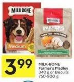 Milk-bone Farmer's Medley 340 g or Biscuits 750-900 g