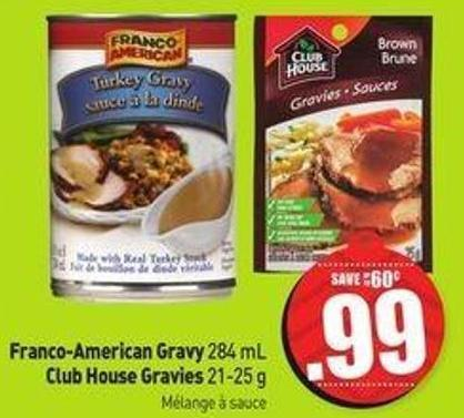 Franco-american Gravy 284 mL Club House Gravies 21-25 g