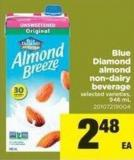 Blue Diamond Almond Non-dairy Beverage - 946 mL