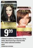 L'oréal Excellence - Preference - Féria - Infina - Root Cover Up Or Garnier Olia Hair Colour