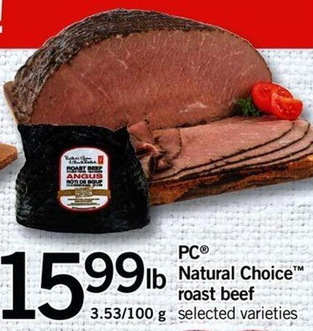 PC Natural Choice Roast Beef